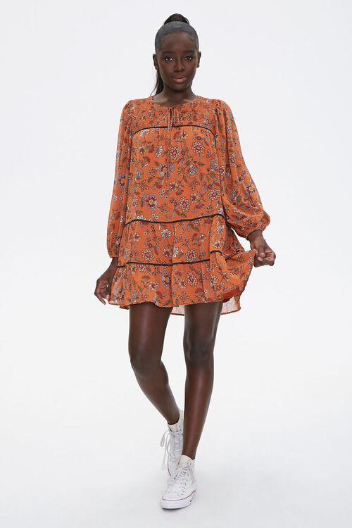 Floral Print Peasant Dress, image 4