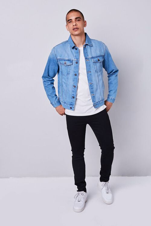 Recycled Buttoned Denim Jacket, image 4