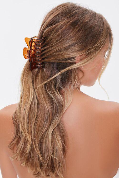 BROWN Clear Hair Claw Clip, image 1