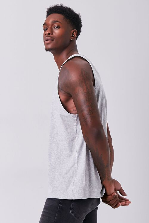 CHARCOAL HEATHER Organically Grown Cotton Basic Tank Top, image 2