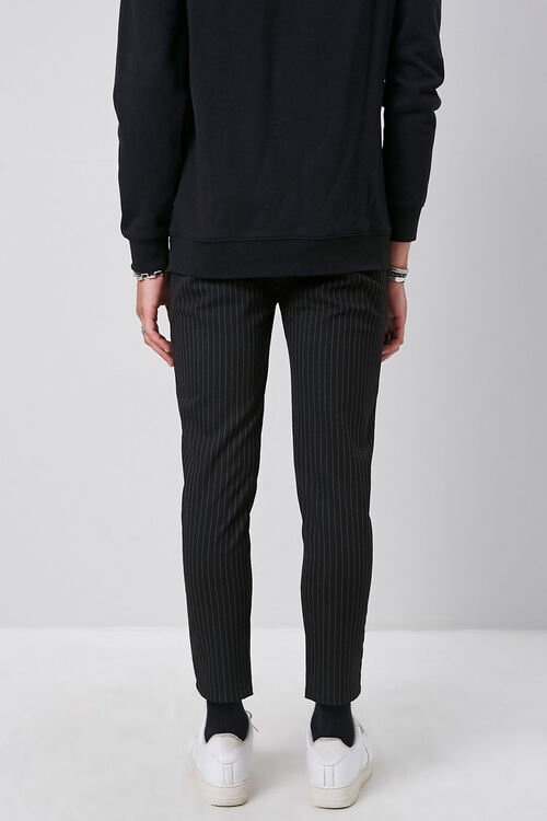 Striped Slim-Fit Ankle Trousers, image 4