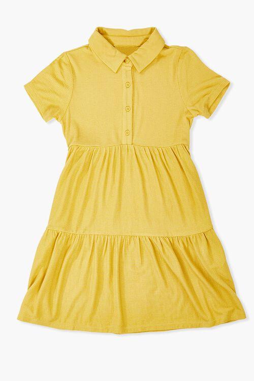 Girls Tiered Shirt Dress (Kids), image 1