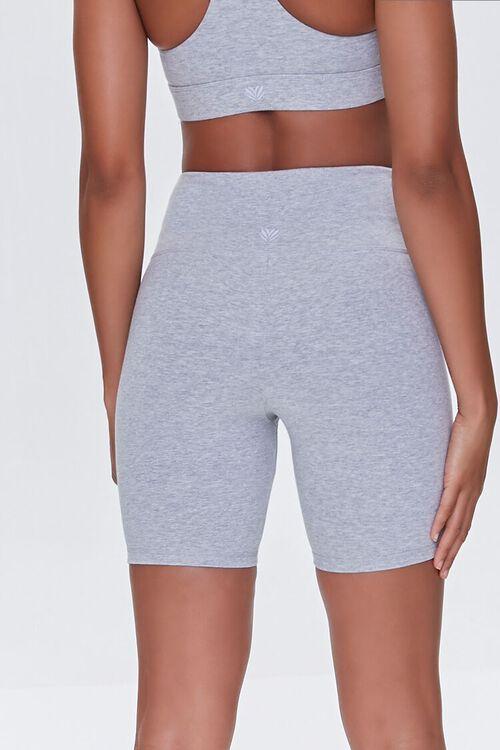 HEATHER GREY Heathered Biker Shorts, image 4