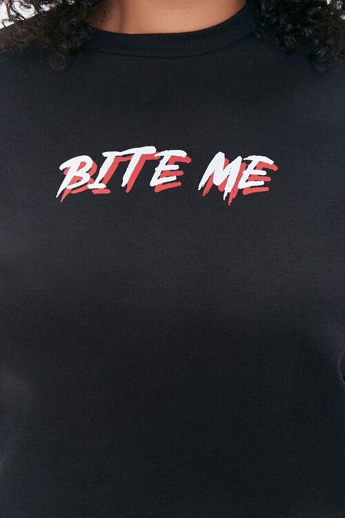 BLACK/MULTI Plus Size Bite Me Vampire Pullover, image 5
