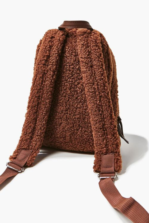 Faux Shearling Zippered Backpack, image 3