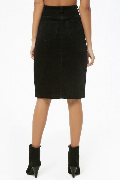 Slit Corduroy Pencil Skirt, image 4