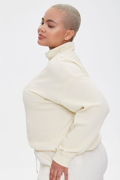 Plus Size Half-Zip Pullover, image 2