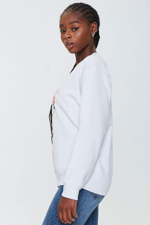 WHITE/MULTI Angel Graphic Pullover, image 2