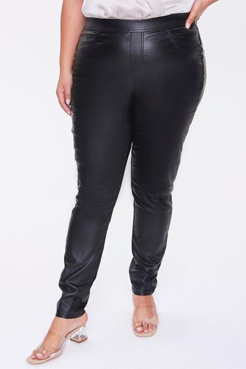 Plus Size Faux Leather Pants, image 2