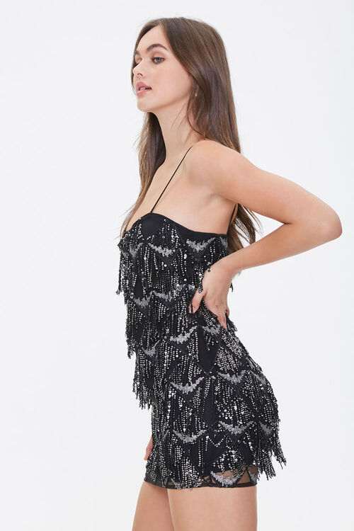 Sequin Fringe Mini Dress, image 2