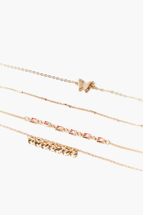 GOLD Butterfly Charm Bracelet Set, image 1