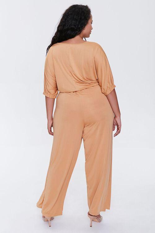 Plus Size Crop Top & Pants Set, image 3