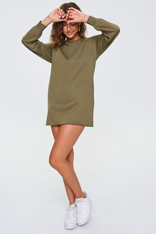 French Terry Sweatshirt Dress, image 4