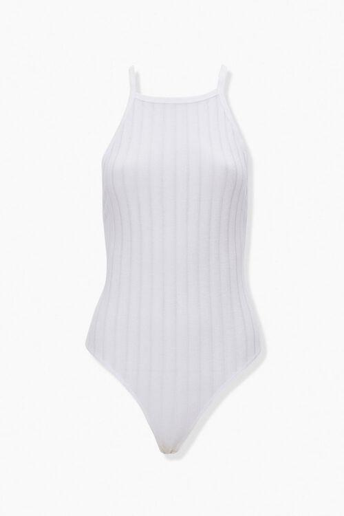 Ribbed Crisscross-Back Bodysuit, image 1