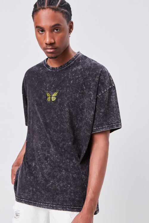 Butterfly Embroidered Graphic Tee, image 1
