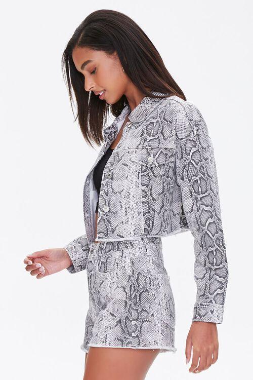Snake Print Denim Jacket, image 2