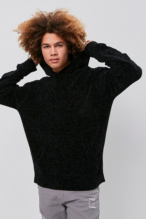 Chenille Sweater-Knit Hoodie, image 1