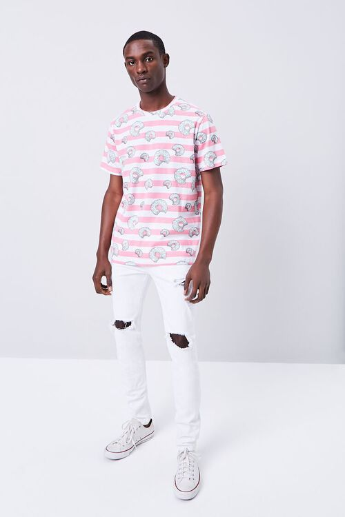 Donut Print Striped Shirt, image 4