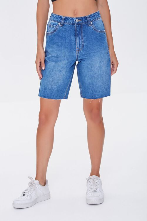 Raw-Cut Denim Bermuda Shorts, image 2