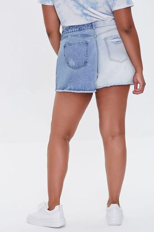 Plus Size Bleached Denim Shorts, image 4