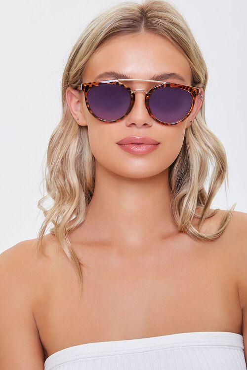 Tortoiseshell Aviator Sunglasses, image 1