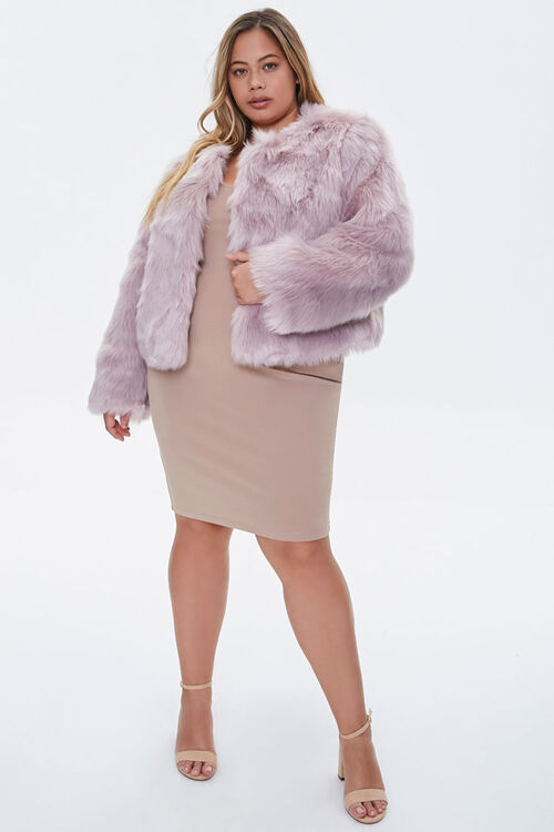 Plus Size Faux Fur Open-Front Jacket, image 4