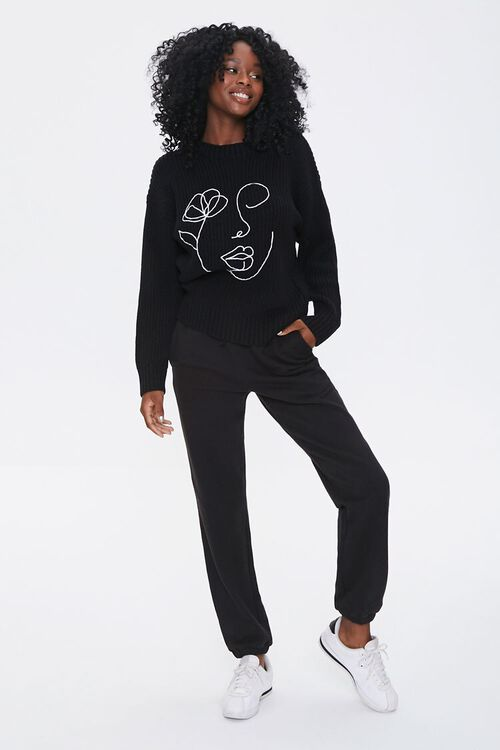 Embroidered Face Sweater, image 4