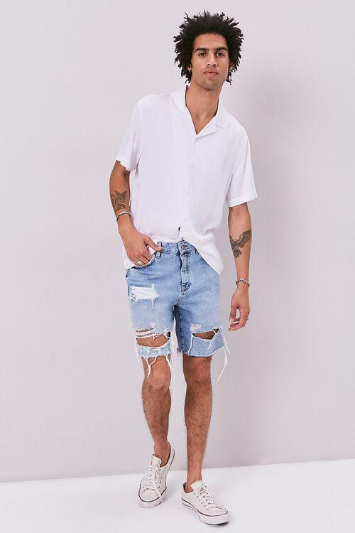 Frayed Distressed Denim Shorts, image 5
