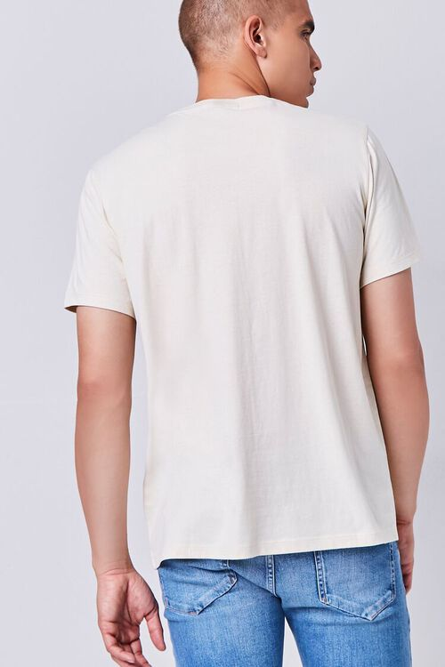 TAUPE/MULTI Organically Grown Cotton Graphic Tee, image 3
