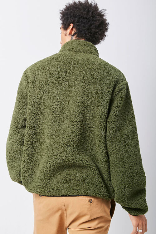 Faux Shearling Contrast-Pocket Anorak, image 3
