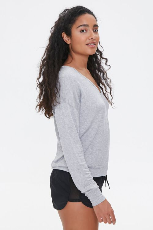 Active Heathered Knit Top, image 2