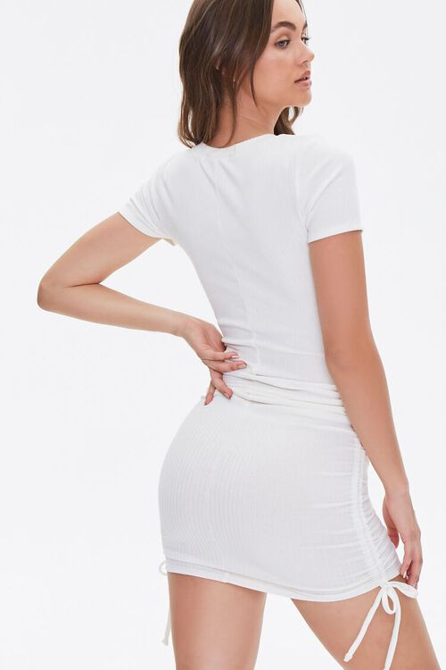 Ruched Self-Tie Bodycon Dress, image 3