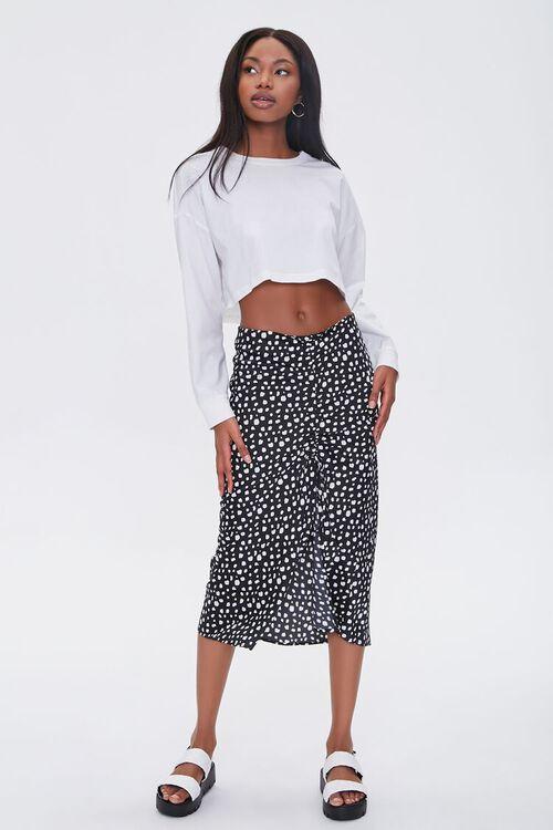 Satin Spotted Print Skirt, image 1