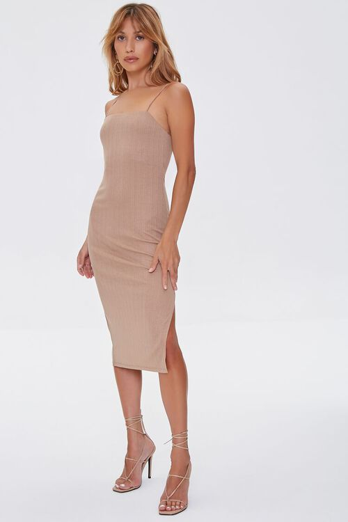 TAUPE Cami Slit Dress, image 4