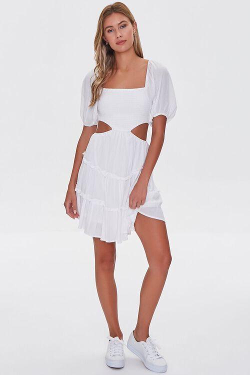 WHITE Cutout Mini Dress, image 4