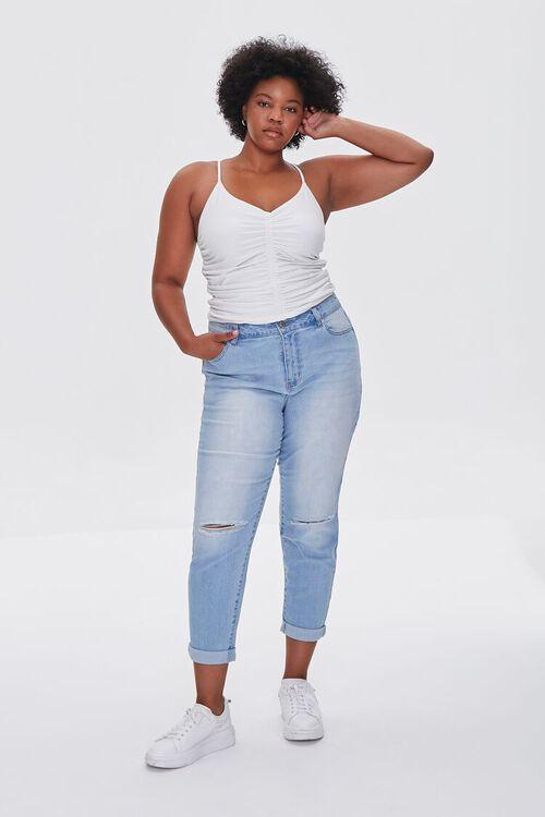 LIGHT DENIM Plus Size Premium Boyfriend Jeans, image 1
