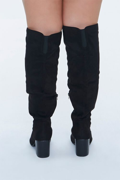 Faux Suede Knee-High Boots (Wide), image 3