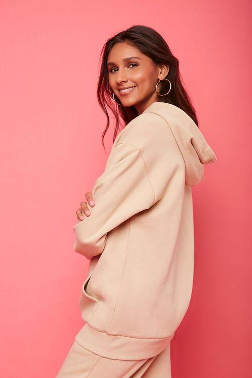 TAN/MULTI Juicy Couture Rhinestone Fleece Hoodie, image 2