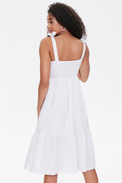 Buttoned Self-Tie Midi Dress, image 3