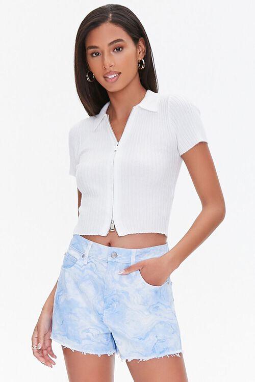 Tie-Dye Wash Twill Shorts, image 1