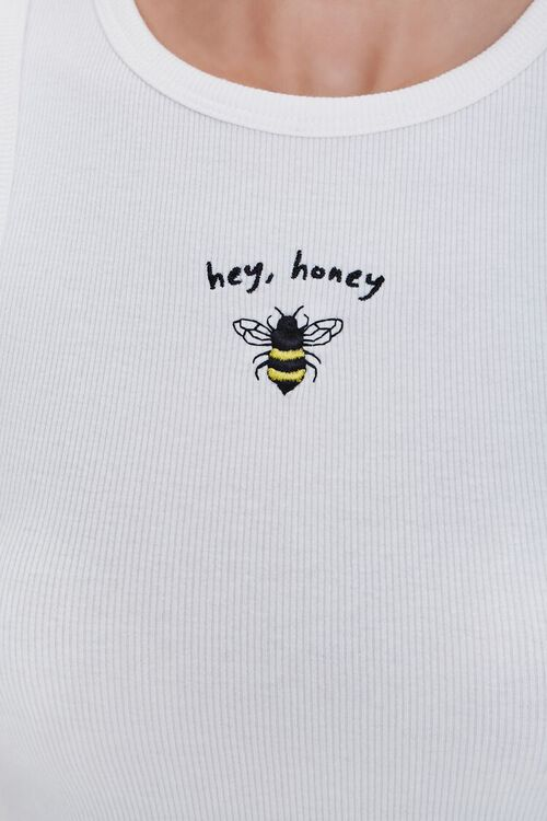 Bee Embroidered Graphic Tank Top, image 5