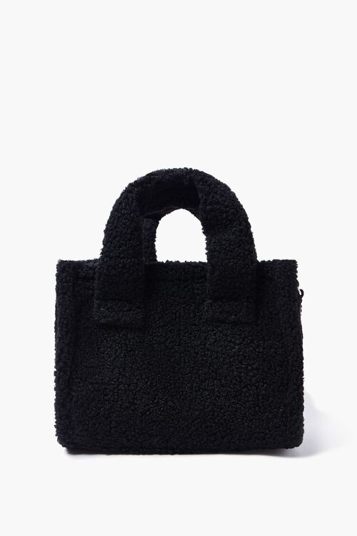 Faux Shearling Tote Bag, image 1