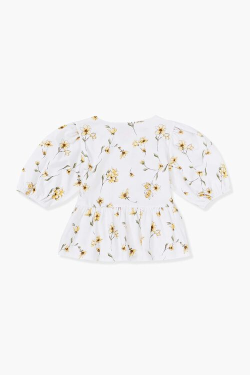Girls Floral Print Top (Kids), image 2