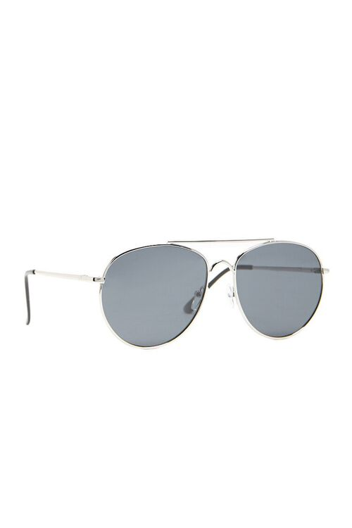 Men Flat-Lens Aviator Sunglasses, image 2