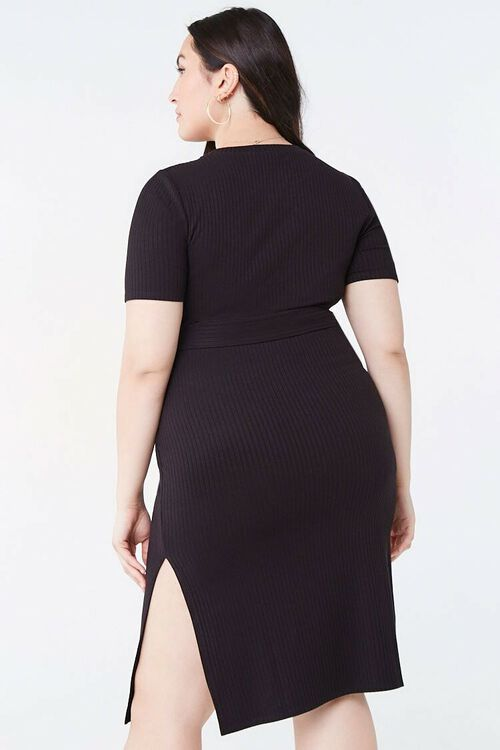 Plus Size Belted Bodycon Dress, image 3