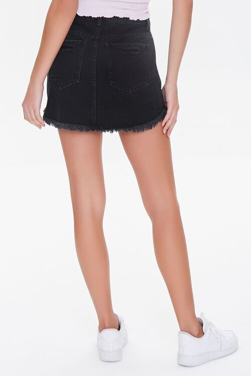 Frayed Denim Mini Skirt, image 4