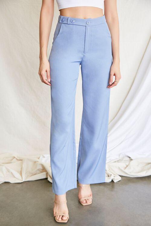 BLUE Buttoned Wide-Leg Pants, image 2