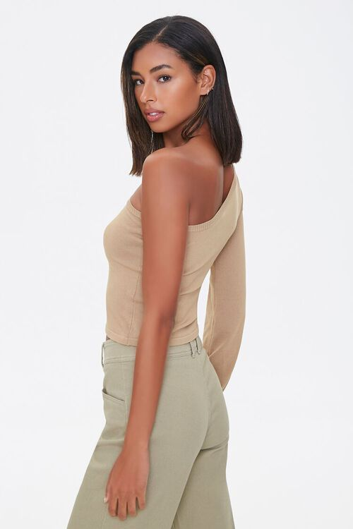 One-Shoulder Peasant Sweater, image 2