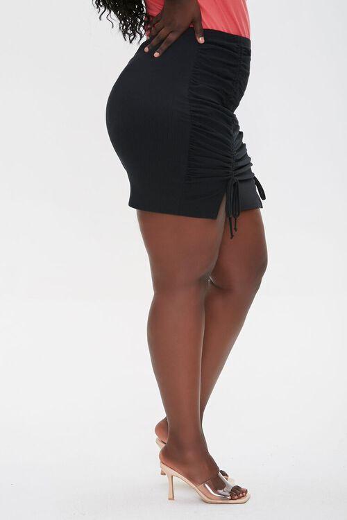 Ruched Drawstring Mini Skirt, image 3