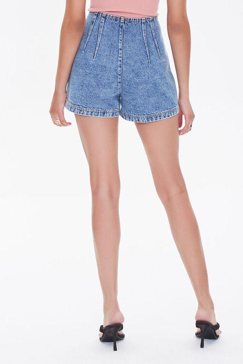 Acid Wash Denim Shorts, image 4
